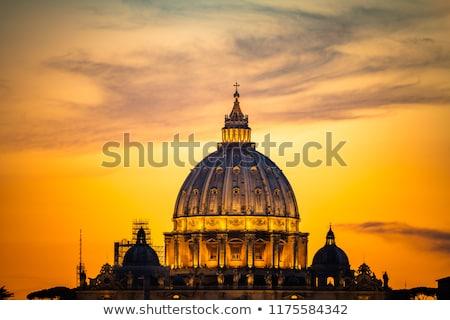 архитектура Ватикан мнение базилика моста святой Сток-фото © Givaga