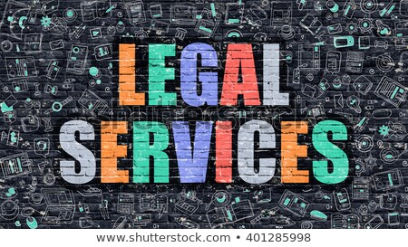 legal services in multicolor doodle design stock photo © tashatuvango
