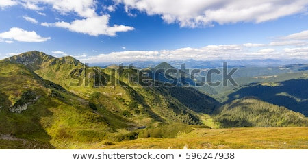 Beautiful panoramic of moutains Stock photo © blanaru