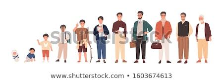 Vektor szett középkorú férfi illusztrációk remek mutat Stock fotó © RAStudio