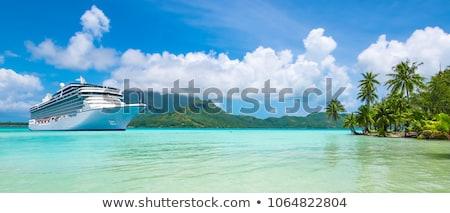 Morza rejs banner statek wycieczkowy żeglarstwo ocean Zdjęcia stock © Genestro