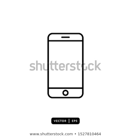 Touch screen phone with message line icon. Stock photo © RAStudio