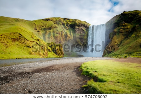 Great view of Skogafoss waterfall. Location Skoga river, Iceland Stock photo © Leonidtit