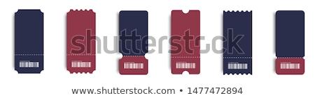 Tickets ingesteld vector een muziek Blauw Stockfoto © milsiart