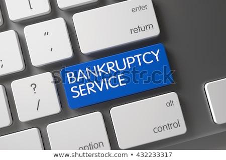 破産 · サービス · キャプション · 青 · キーボード · キー - ストックフォト © tashatuvango