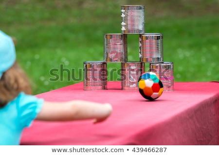Bambina giocare fiera illustrazione ragazza sorriso Foto d'archivio © bluering