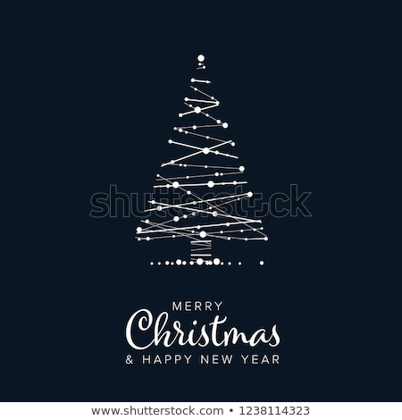 Minimalist Christmas flyer/card template Stock photo © orson