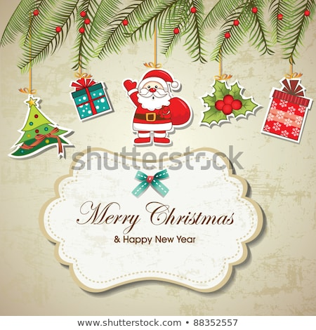 abstract artistic creative christmas tags stock photo © pathakdesigner