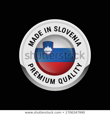 серебро Знак Словения белый знак Сток-фото © magraphics