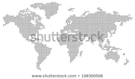dotted world map of square dots stock photo © ildogesto