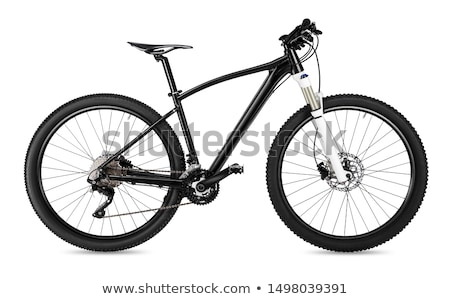 Modern MTB race mountain bike isolated on black background Stock photo © lightpoet