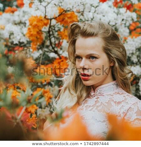 девушки · платье · саду · красивой · довольно - Сток-фото © svetography