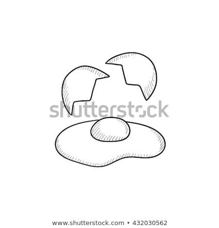 Ovo vetor ícone isolado esboço pictograma Foto stock © NikoDzhi