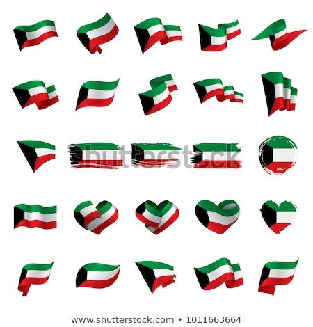 Koeweit geïsoleerd hart vlag witte Stockfoto © rogistok