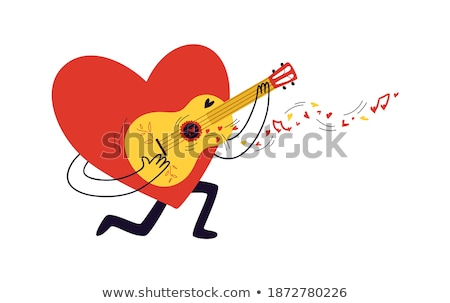 Musical Note Mascot Heart Sing Stock photo © lenm
