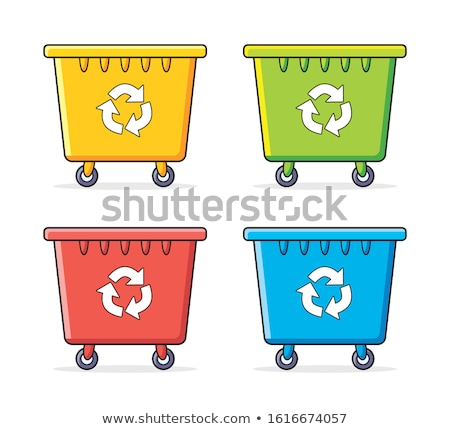 Garbage bin vector cartoon illustration. Stock photo © RAStudio