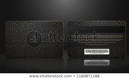 premium luxury business card design with diamond pattern stock photo © sarts