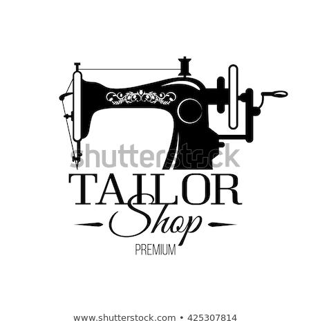 Terzi alışveriş afiş dikiş makinesi modern büro Stok fotoğraf © studioworkstock