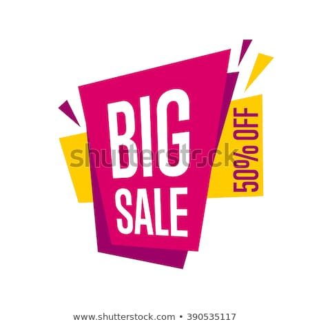 -50% off sale proposition isolated vector sticker Stock photo © studioworkstock