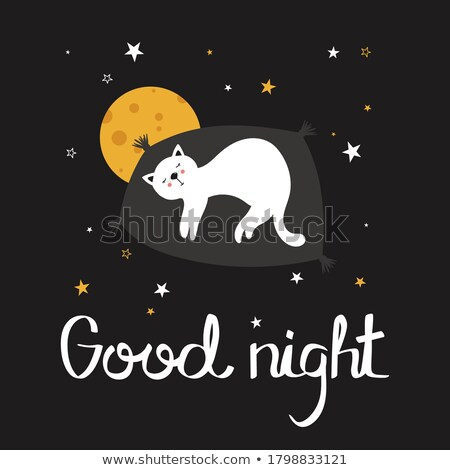 English phrase for sleeping on the moon Stock photo © bluering
