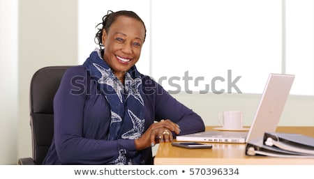 Senior woman working on her finances Stock photo © IS2