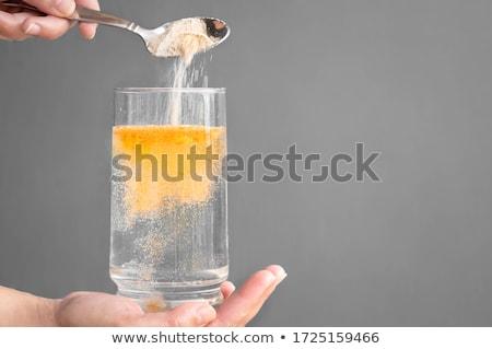 verre · fraîches · boire · eau · main · humaine - photo stock © stevanovicigor