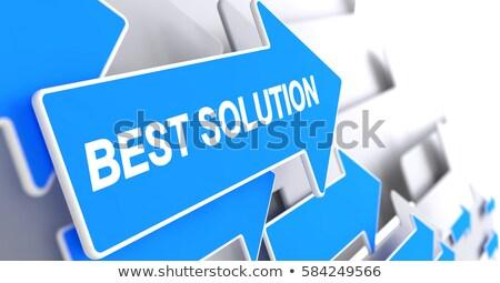 Carriere ontwikkeling diensten bericht Blauw cursor Stockfoto © tashatuvango