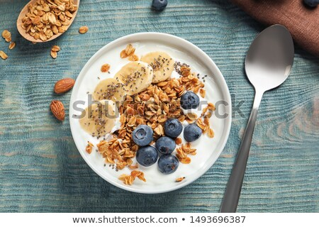 Tigela muesli tabela close-up Foto stock © IS2