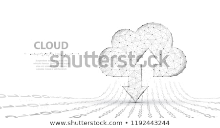 cloud and arrows on white background isolated 3d illustration stock photo © iserg