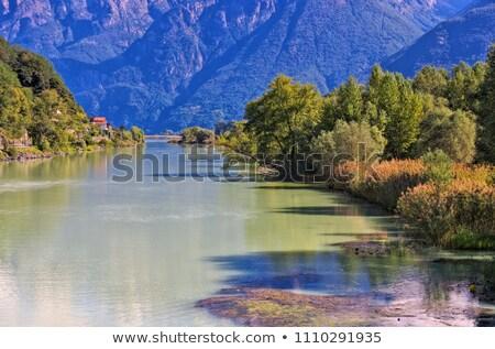 Lake Como canal to Lago di Mezzola Stock photo © LianeM