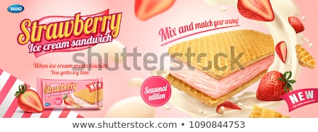A Bag of Strawberry Cookies Stock photo © bluering