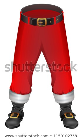 Santa Claus red pants and footwear. Christmas clothing accessory Stock photo © orensila