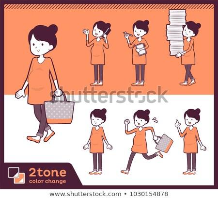2tone type Pregnant women_set 02 Stock photo © toyotoyo