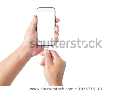 Hand & USB cable stock photo © Dinga