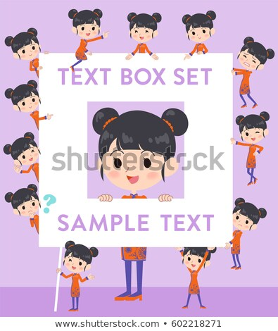 chinese ethnic clothing woman text box stock photo © toyotoyo