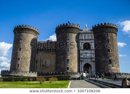 Görmek yeni kale Napoli şehir yeşil Stok fotoğraf © digoarpi