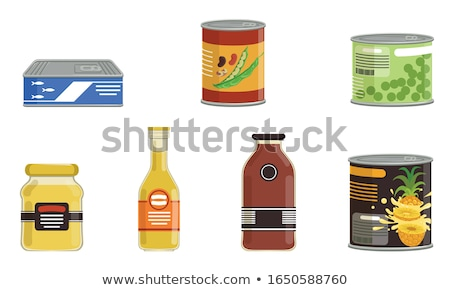 Canned fish isolated. Tin fish Vector illustration. Stock photo © popaukropa