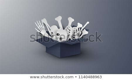 Paper Art - Halloween Decorations Background Stock photo © solarseven