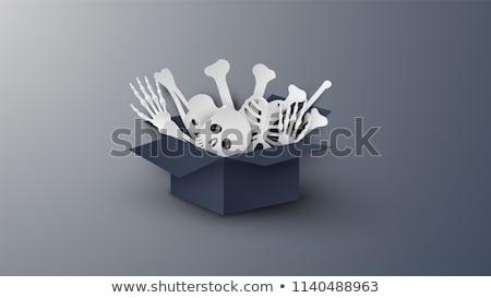 Papier kunst halloween decoraties gevouwen origami Stockfoto © solarseven