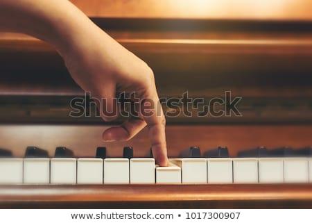 School girl White_classic music Stock photo © toyotoyo