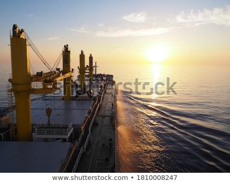 vracht · schepen · horizon · Blauw · zee · water - stockfoto © boggy