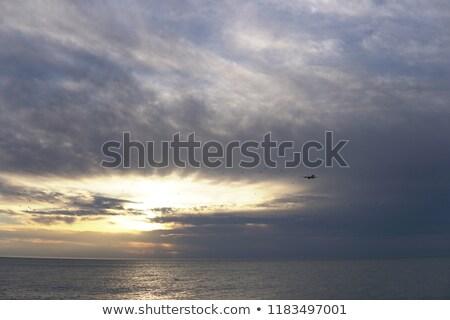 самолет · небе · закат · плоскости · синий · Восход - Сток-фото © dmitriisimakov