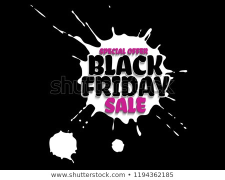 black friday sale grunge poster pink special offer text banner with grunge black ink drops isolated stock photo © iaroslava