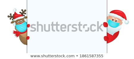 Сток-фото: северный · олень · Солнцезащитные · очки · Дед · Мороз · оленей · белый