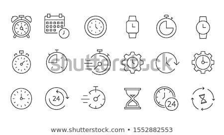 idő · óra · stopperóra · vektor · ikon · szett · időzítő - stock fotó © imaagio