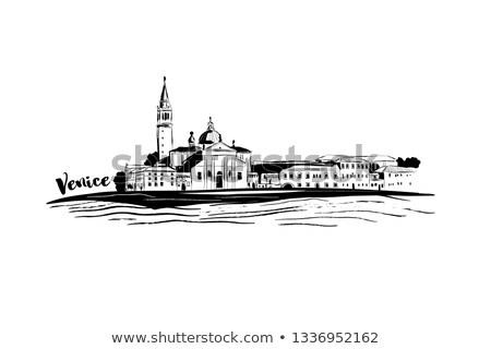 島 · ヴェネツィア · イタリア · 風景 · 海 · 教会 - ストックフォト © neirfy