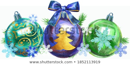 Stock photo: Watercolor Christmas tree border for your creativity