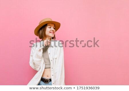 Senhora casual roupa posando Foto stock © acidgrey