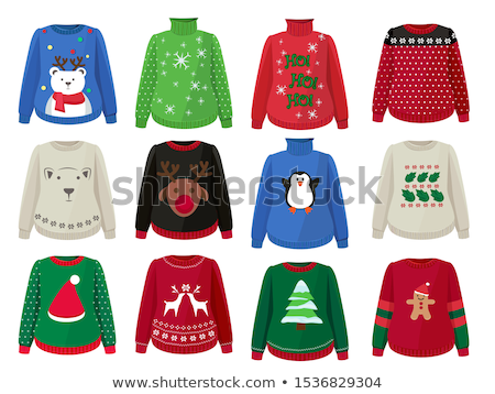 0fdef4edf4 Winter Hats and cute ugly christmas sweaters icon set . Stock photo ©  Margolana · Ugly sweater