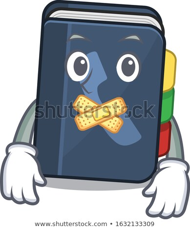 Buch Maskottchen ruhig Illustration Schule Lesung Stock foto © lenm